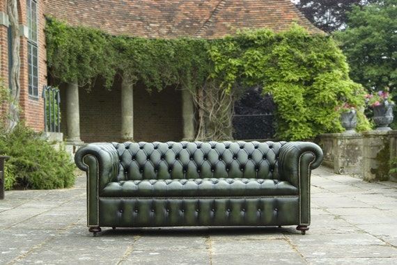Classic Chesterfield Club 3 Seater Sofa Handmade in England