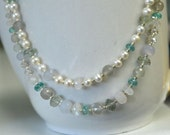 """RESERVED Moonstone Necklace Pearl Necklace Ivory Necklace Amethyst Necklace Apatite Necklace """"FOREVER"""""""