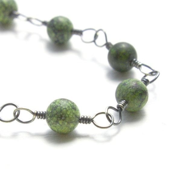 Serpentine  Bracelet  Sterling Silver  -  Pattern
