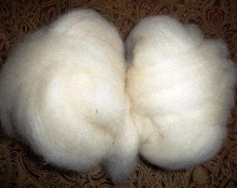 White Finn Wool Roving -4 ounces