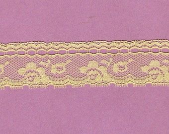 Lemon Yellow Lace Insertion  3yds