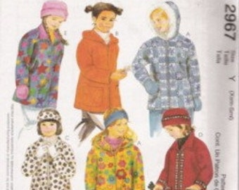 McCalls 2967 Girls Polar Gear Jacket Pattern SZ Xsm-Sml   CLEARANCE ITEM