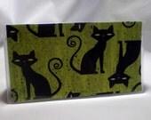 Cool Cat - Vinyl Checkbook Cover - Halloween