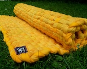 Upcycled Golden Yellow T Shirt Rug, 2 x 3 feet
