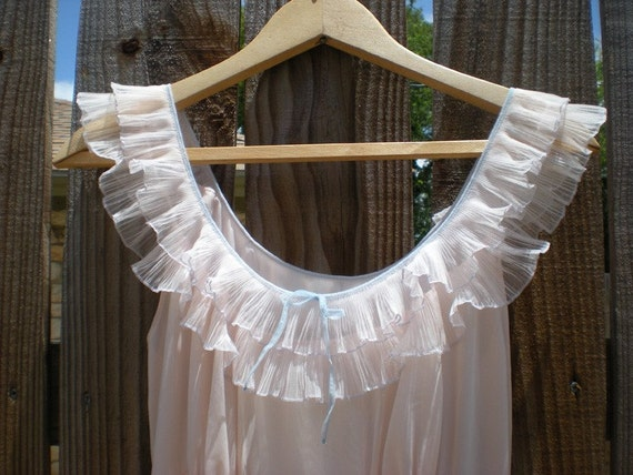 Frilly Pink Vintage Nightgown
