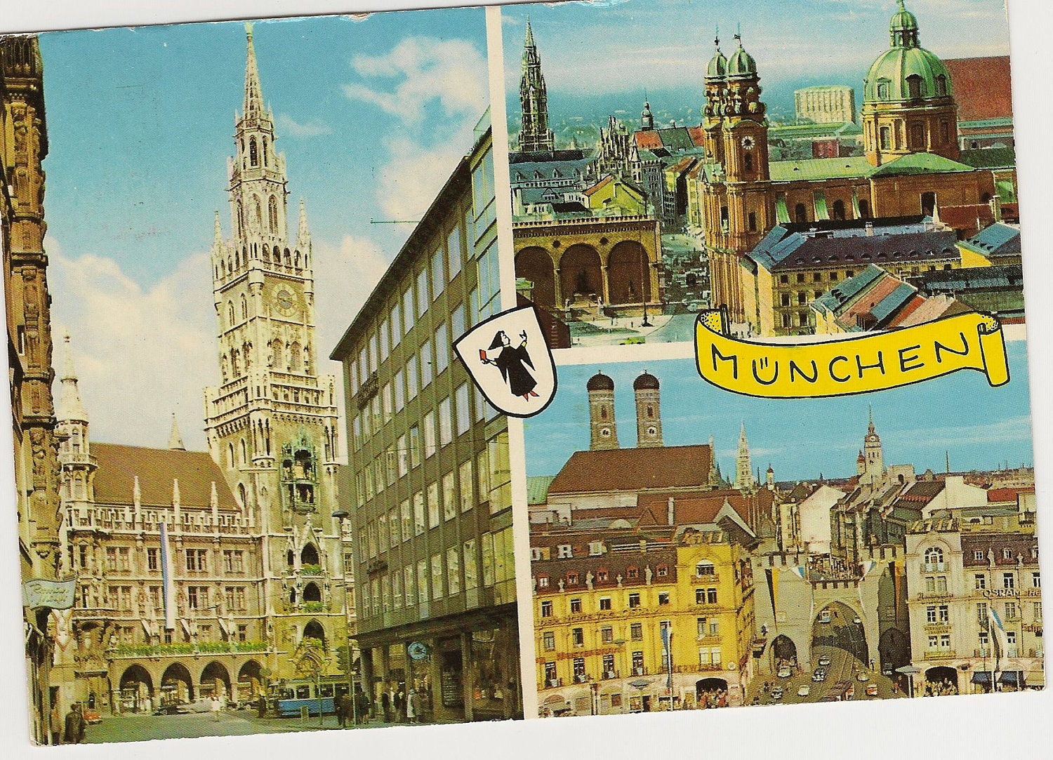 vintage german postcard of munich 1972 olympics. Black Bedroom Furniture Sets. Home Design Ideas