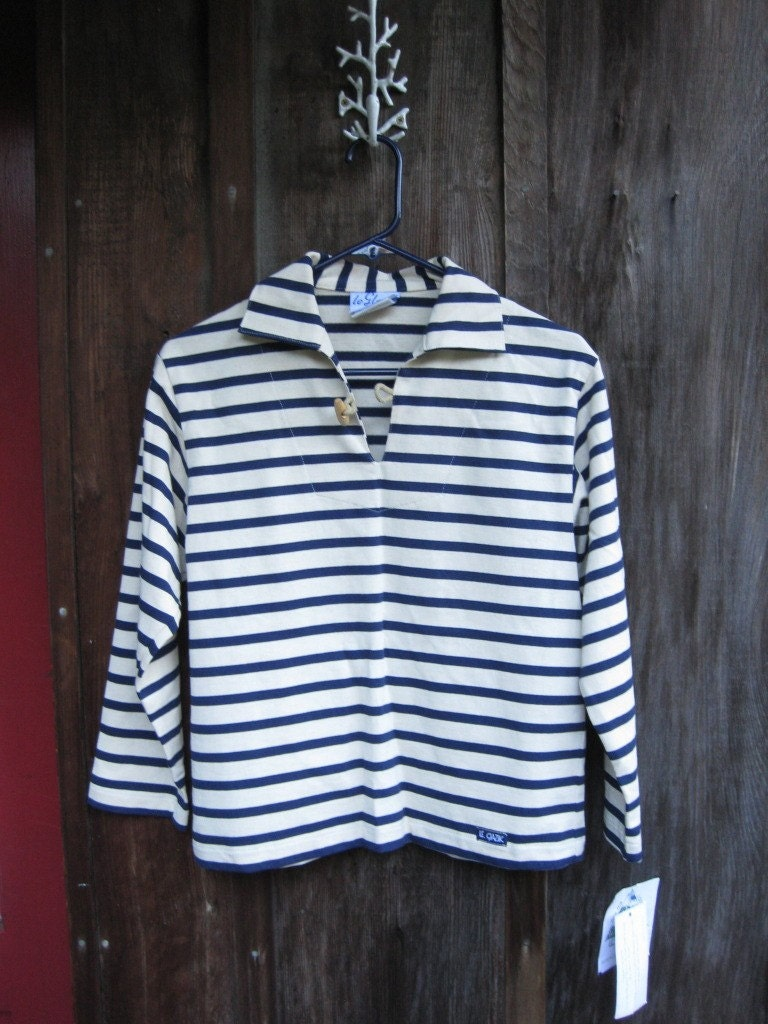 sale vintage french nautical striped sailor 39 s shirt. Black Bedroom Furniture Sets. Home Design Ideas