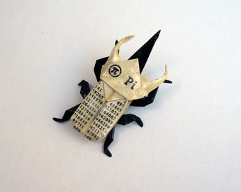 PI origami atlas beetle pin