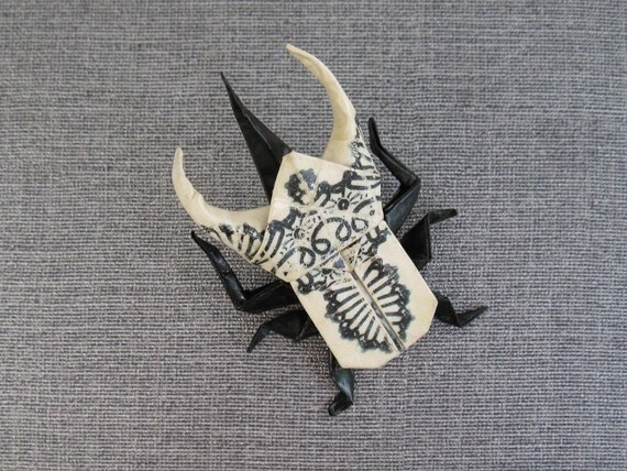 origami atlas lace beetle pin