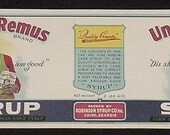 1920s Uncle Remus  Georgia Syrup Label Original