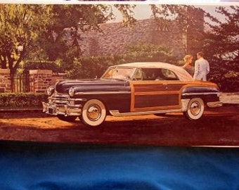 1949 Chrysler Town Country Woodie Convertible Spitfire Engine