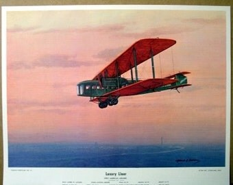 1919 First American Luxury Airliner Alfred Lawson Antique Plane