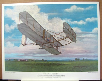 1906 Wright Brothers Biplane Simms Station Ohio Early Flight