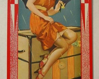 1965 Vintage Calendar Gil Elvgren 1939 Girlie Pinup Legs Heels