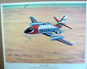 1960s Lockheed VC-140B Jetstar MATS 550mph Military Air Transport Vintage Aviation