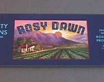 1940s Melon Orchard Farm House Rising Sun Purple Mountains Crate Label