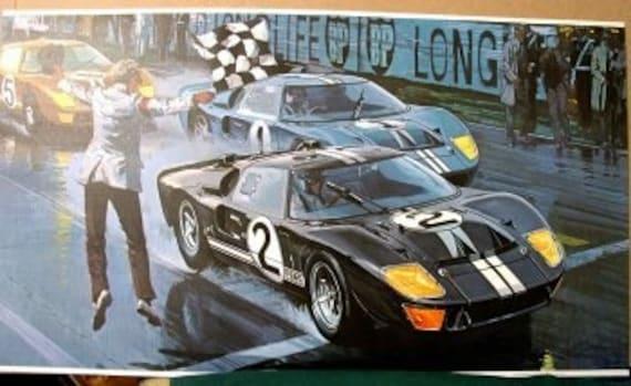 1966 le mans race ford gt 40s 1st american winner dragster. Black Bedroom Furniture Sets. Home Design Ideas