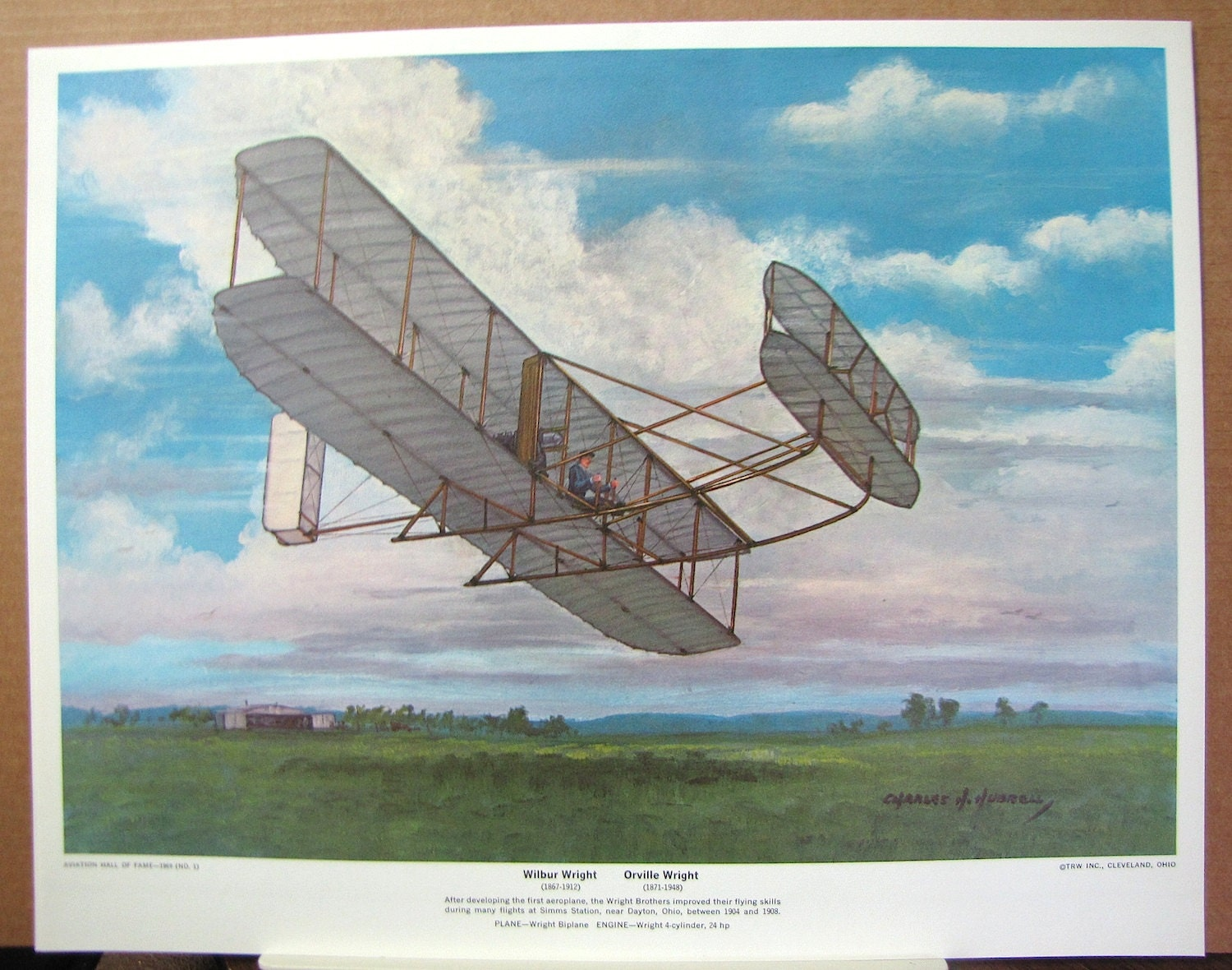 First Wright Brothers Flight with 1906 wright brothers biplane simms station ohio early flight