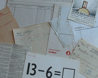12 Vintage Ledger and Accounts - Paper Pack