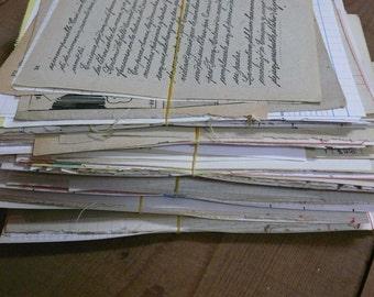 SALE 20 parts of Vintage EPHEMERA - Big PACK of paper
