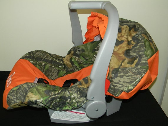 3 Piece Set Mossy Oak Camo Infant Car Seat Cover And Canopy