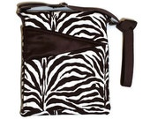Cross body bag, Sling, ipad, hipster Zebra fabric, Travel Zipper adjustable strap