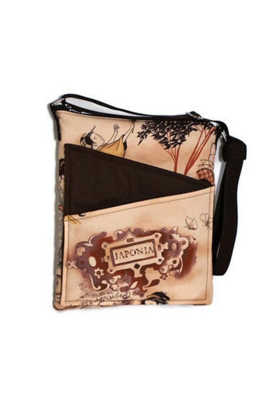 Japanese bag crossbody ipad, eReader, Kindle, Sony Reader, Nook Netbook  Womens carrier case