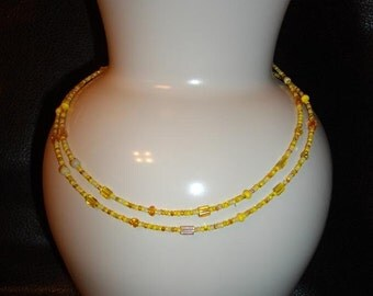 Bright Yellow Lanyard or Necklace