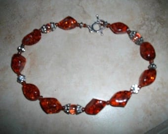 Amber Sparkle Necklace