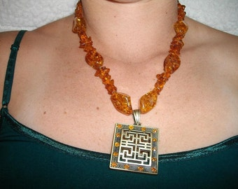 Amber Dimensions Necklace