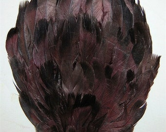 Dyed Brown Mallard Duck Feather Pad