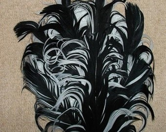 DISCOUNTED - Not the Best Quality - Black and White Nagorie Feather Pad
