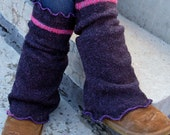 Eco Friendly Upcycled Sweater Knee High Chunky Leg Warmers