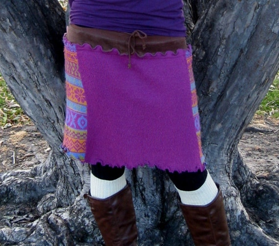 Eco Friendly Upcycled Sweater Skirt