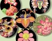 SALE - Digital Sheet, 1 Inch Circles, Digital Art:, Chinese Ornament, Bottlecaps,  Embellishments, Gorgeous  Printable Download CS 135