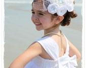 Fascinator Flower Girl Brides Maid Bridal Hair Applique