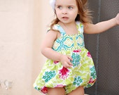 Baby Girls Sunsuit Bubble Romper Retro Lush Toddler Infant Girls