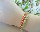 Braided Bead Bracelets - Friendship - Set of Two