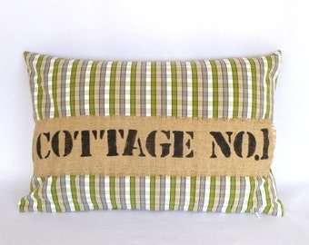 COTTAGE STYLE PILLOW cover No. 1