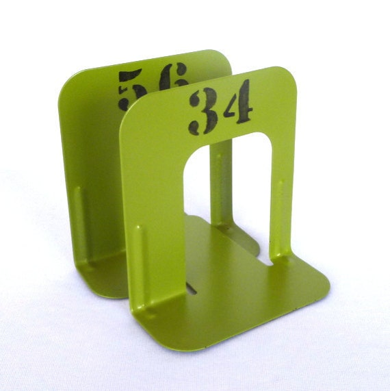 Acid Green INDUSTRIAL STYLE small BOOKENDS