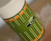 Funky Green and Orange Thermos
