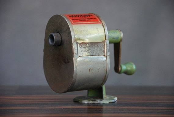 Vintage Arrow Pencil Sharpener Desk Or Wall Mount By