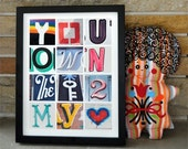 Key to My Heart - Love - Photographic Alphabet Collage