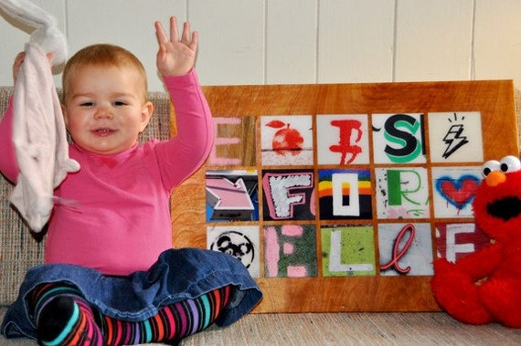 Personalized Custom Photographic Baby Name Collage