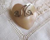 Etsy Sale Vintage  Monogram M Heart Pin