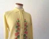 Vintage Sweater 50s Talbot Traveler Yellow Sweater