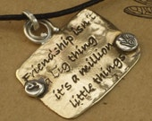 Etched and Hand stamped Friendship Necklace