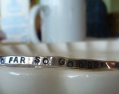 Handstamped Sterling Silver Bangle Bracelet