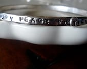 Hand Stamped Bracelet-Sterling Silver Bangle
