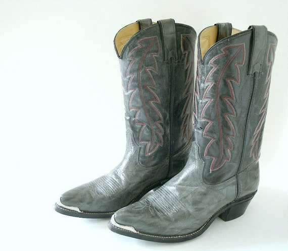 gray durango cowboy boots size 9 5 womens
